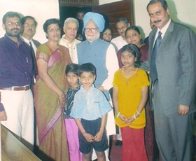 With Prime Minister Dr. Manmohan Singh